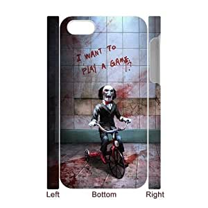 QSWHXN Cover Custom New Pattern Printing Saw Phone 3D Case For Iphone 4/4s [Pattern-6]