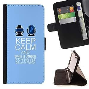 - Queen Pattern FOR Samsung Galaxy S4 Mini i9190 /La identificaci????n del cr????dito ranuras para tarjetas tir????n de la caja Cartera de cuero cubie - keep calm and dance purple