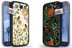 Lifebox - Cute Birds and Flowers Designer Cases TWO PACK for Samsung S3