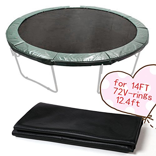 14' Replacement 72Ring Sports Fitness Round Trampoline Weatherproof Jumping Mat [US STOCK] by Ferty