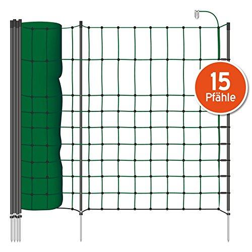 50m Kleintier-Elektro-Netz, 65cm von VOSS.PET, grüne Litze, 1 Spitze Hundezaun Katzenzaun Agility grün