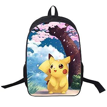 MeMoreCool Pokemon Series Unisex Mochila Escolar Anime japonés Pikachu Cartoon Casual/Viajes Mochila Estudiante/libro bolsa: Amazon.es: Juguetes y juegos