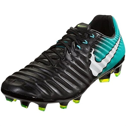 Nike Women's Tiempo Legacy III FG Soccer Cleats - (Black/White-Light Aqua) Size: 8 by NIKE