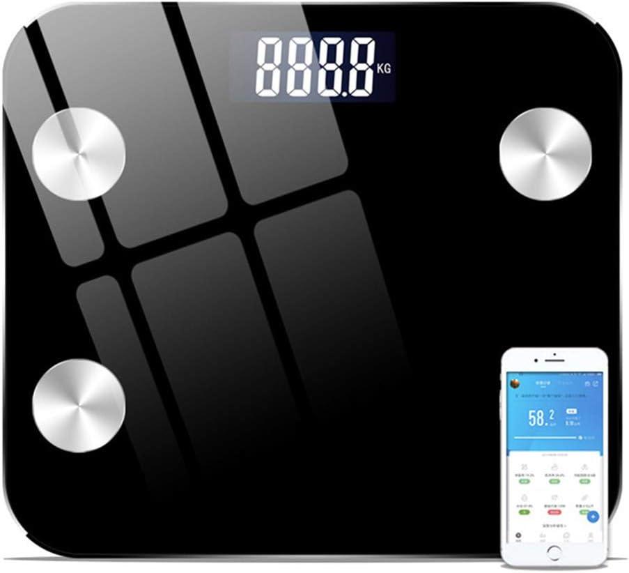 Yangyang Báscula Grasa Corporal Bluetooth Báscula Bioimpedancia Profesional Inteligente Bascula Baño Analisis Corporal Balanza Peso Digital Grasa Corporal con Composición Corporal Medida,Negro