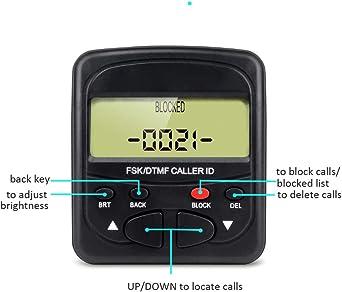 Bloqueador de llamadas de teléfono fijo telpal para teléfonos fijos con identificador de llamadas pantalla, 1500 capacidad: Amazon.es: Electrónica