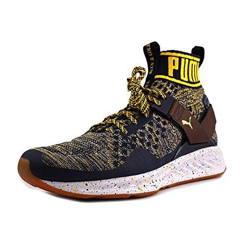 the best attitude 33dd1 08ff2 PUMA- Men's Ignite Evoknit Peacoat/Chestnut/Spectra Yellow, Athletic Shoe,  Size 10