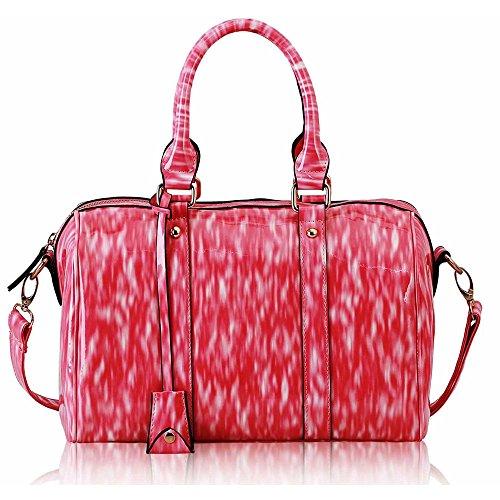 Asa De hombro Trendstar En La parte superior De La moda De las mujeres bolsos De mano, piel sintética, ORT.K7051-Petate Célébrité Style A F - Pink