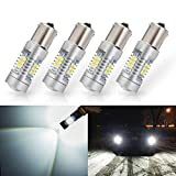 ANTLINE Extremely Bright 1156 1141 1003 7506 BA15S 21-SMD 2835 Chipsets 1260 Lumens LED Bulb Replacement White for Car RV Interior Backup Reverse Brake Tail Turn Signal Lights Bulbs DRL (Pack of 4)