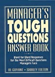 img - for Manager's Tough Questions Answer Book by Al Guyant (1996-01-15) book / textbook / text book