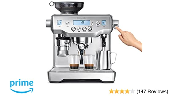 Amazon.com: Breville BES980XL Oracle Espresso Machine, Brushed Stainless Steel: Kitchen & Dining