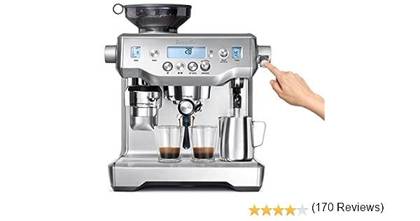 Breville the Oracle Independiente Totalmente automática Máquina espresso 2.5L Acero inoxidable - Cafetera (Independiente, Máquina espresso, 2,5 L, Molinillo integrado, 1800 W, Acero inoxidable): Amazon.es: Hogar