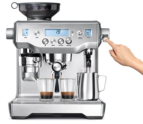 Breville Stainless Steel Espresso Maker - Breville BES980XL Oracle Espresso Machine, Brushed Stainless Steel