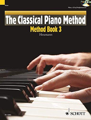 THE CLASSICAL PIANO METHOD: METHOD BOOK 3 BOOK/CD