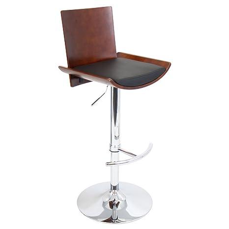 Wondrous Lumisource Vittorio Bent Wood Barstool Cherry Black Matte Pu Squirreltailoven Fun Painted Chair Ideas Images Squirreltailovenorg