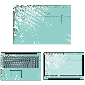 decalrus - Protective Decal Floral Skin Sticker for Lenovo IdeaPad 320-15 (15.6