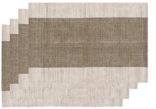 Now Designs Corsica Placemats (Set of 4), Brown -  - placemats, kitchen-dining-room-table-linens, kitchen-dining-room - 51HJ2bQRXcL -