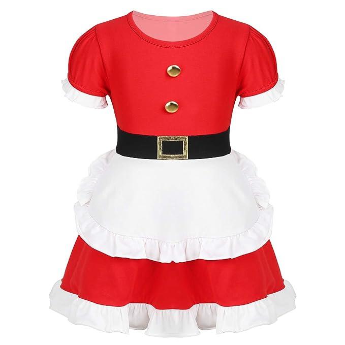 iixpin Vestido Infantil de Navidad Traje de Santa Claus ...