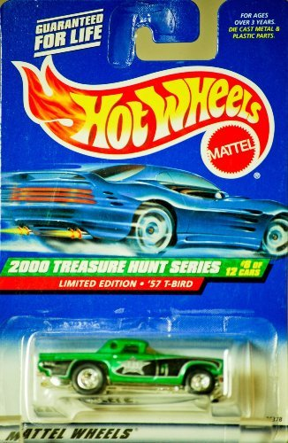 Mattel Hot Wheels 2000 Treasure Hunt Series Limited Edition 1957 '57 T-Bird (#8 of 12), Collector No. 056
