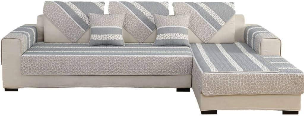 ZHFEL Funda De Sofá Universal Algodón,Couch Funda Muebles Protector 3 Plaza Antideslizante Cubre Sofas Cuatro Estaciones para Sala De Estar Mascotas Gato Perro-28x36(70x90cm)-A: Amazon.es: Hogar