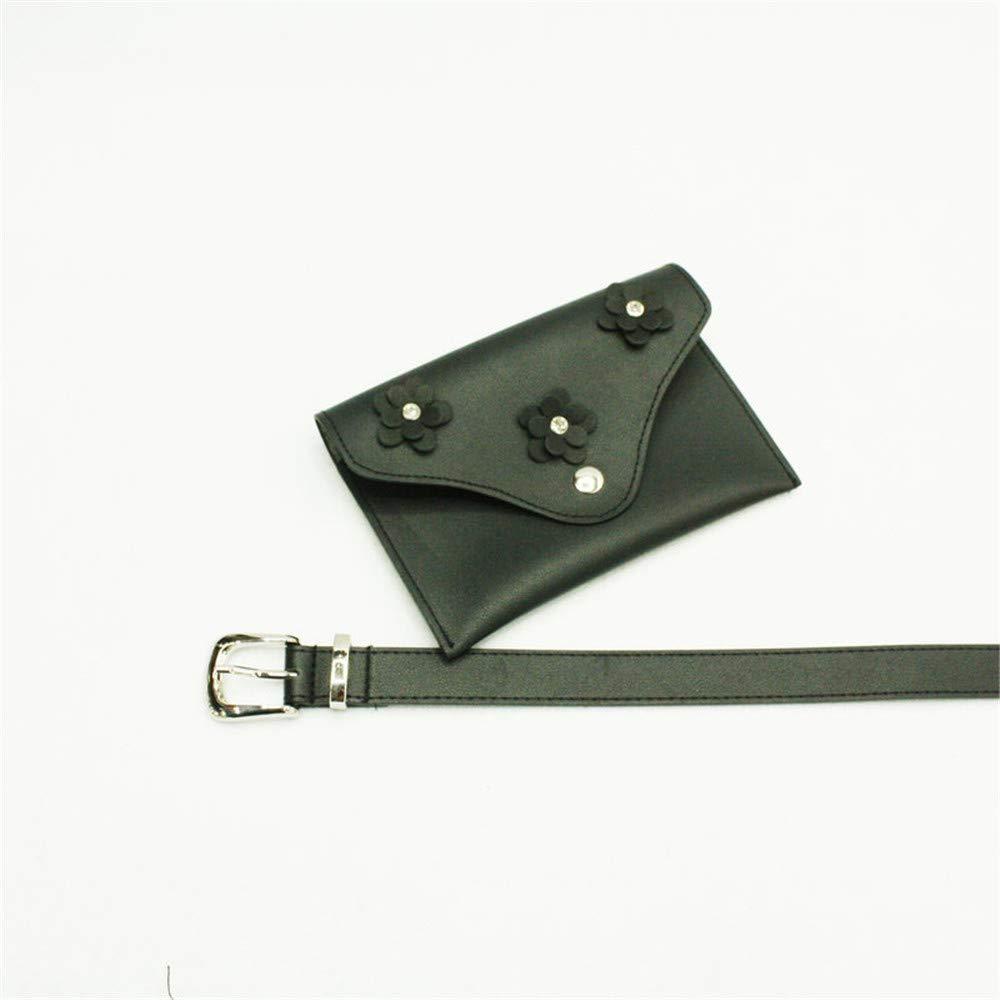 Monkibag-WW Womens Waist Bag Small Women Waist Bag Belt Bag 3D Floral PU Leather Fanny Pack Removable Belt with Waist Pouch Mini Purse Wallet Travel Cell Phone Bag Leather Waist Packs