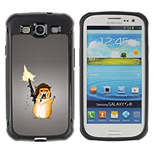 CAZZ Rugged Armor Slim Protection Case Cover Shell // Funny Ramb Chipmunk Solder // Samsung Galaxy S3