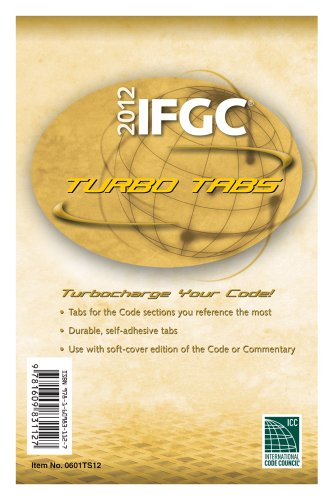 2012 International Fuel Gas Code Turbo Tabs for Softcover Edition (International Code Council Series)