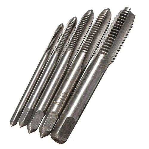 5pcs M3 M4 M5 M6 M8 HSS Machine Hand Screw Thread Metric Plug Tap Drill Bits