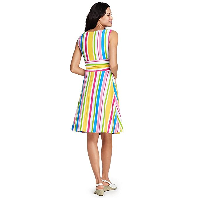 Lands' End Women's Sleeveless Fit And Flare Dress by Lands' End
