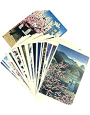 Landscape Painting Creative Birthday Card,Japanese Landscape Postcard£¨24 Pcs)