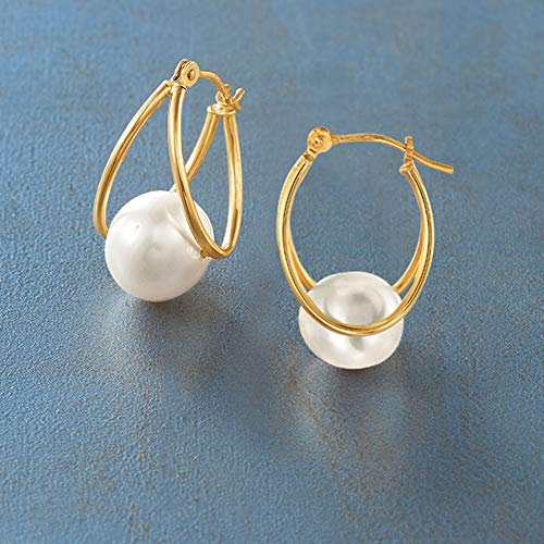 4b47f0e2c ... 8-9mm Cultured Pearl Double Hoop Earrings in 14kt Yellow Gold. Add To  Cart