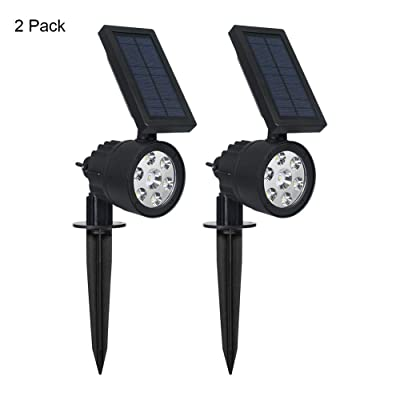 Westinghouse 2-in-1 Spotlight Landscape Wall Lights Outdoor, 200 Lumens Wall Lights Garden Lights Waterproof White 7 LEDs Solar Powered Spotlight for Patio Yard Pathway Porch Pool Garage (2 Pack) : Garden & Outdoor