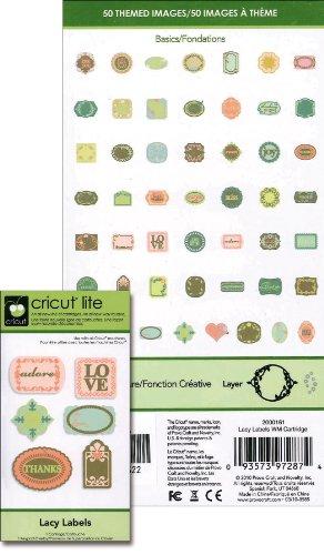 Cricut Lite Cartridge Lacy Labels Rare by Cricut