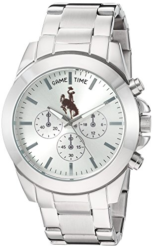 Game Time Women's 'Knock-Out' Quartz Stainless Steel Quartz Analog Watch, Color:Silver-Toned (Model: COL-TBY-WYO) (Analog Ladies University)