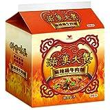 《統一》 滿漢大餐 麻辣鍋牛肉麺 (200g×3袋) (スパイシー煮込牛肉ラーメン) 《台湾 お土産》 [並行輸入品]