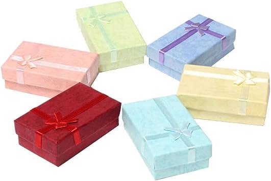 Garneck 6 piezas cajas de regalos de joyas cintas de raso de cartón organizadores bowknot caja de almacenamiento aretes pulsera collar para aniversarios bodas cumpleaños: Amazon.es: Salud y cuidado personal