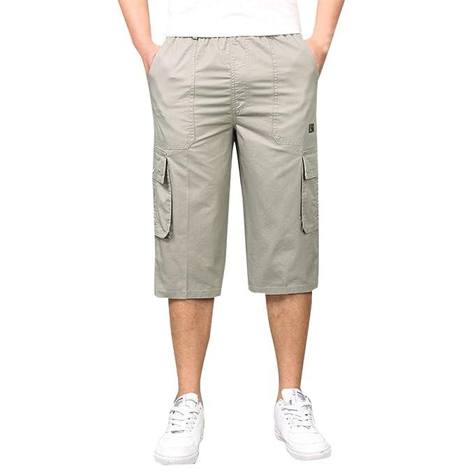 ESAILQ-Pantalon Chandals Hombre Bermudas Cargo Shorts Hombres Pantalones Cortos Leisure Casual Pantalon Multibolsillos Hombre: Amazon.es: Ropa y accesorios
