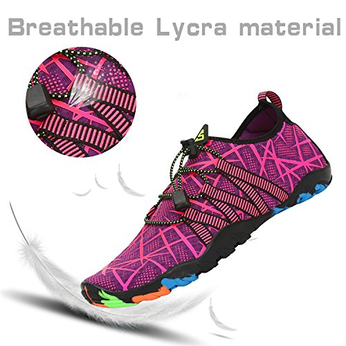Yoga Swim Walking Womens Beach Red Quick Water Aqua Mens Shoes Pool Surf Barefoot Dry Diving Rose Sports xTFT0Aq6w
