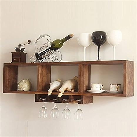 ✌Estante de almacenamiento en el hogar Estante de pared Exhibidor de almacenamiento Wine Rack Bar