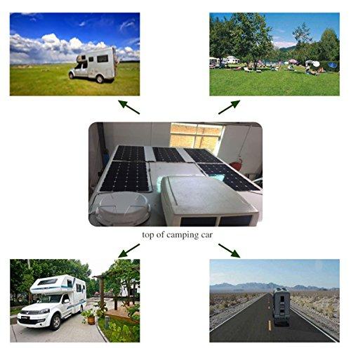 Flexible Solar Panel ,SunPower Solar Panel 100w 18V 12V ,Lightweight Flexible Solar Power Panels for RV Boat Truck Car Van Tent by Winnewsun (Image #5)