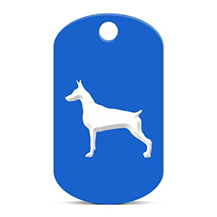 Doberman Pinscher llavero Gi Dog Tag Grabado varios colores ...