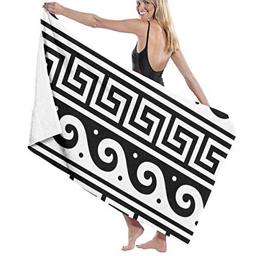 VIMMUCIR Beach Towels for Women Men Ancient Greek Fret Key Design Bath Towels Quick Dry Multipurpose Travel Pool Blanket Large 31x51 Inches