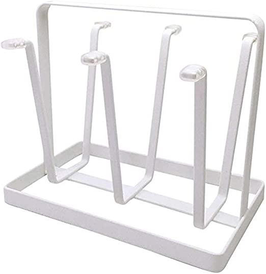 Kitchen Glass Cup Drying Stand Mug Wood Rack Draining Hanging Holder LP