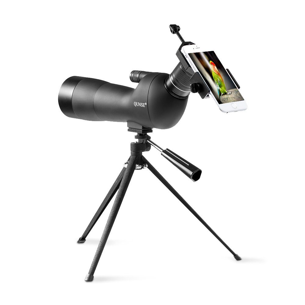 QUNSE Spotting Scope Bird Watching with Broad Horizon Animals and Outdoor Activities Multilayer Coating Optical Lens Perfectly for Observing Birds 20-60X60 Zoom