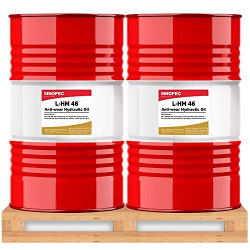 Sinopec AW 46 Hydraulic Oil Fluid (ISO VG 46, SAE 15) - 55 Gallon Drum (2)