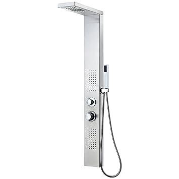 Duschpaneel Regendusche Duscharmatur Duschset Dusche Edelstahl Stahl Viereckig