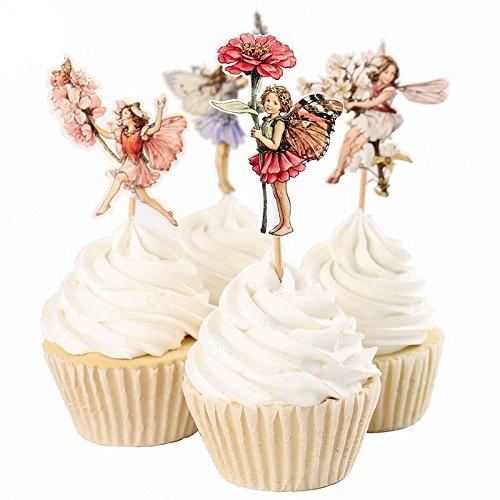 24 Unds Hadas para decoracion cupcakes magdalenas tartas ...