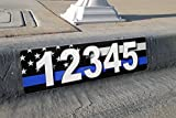 Thin Blue Line Address Plaque Reflective