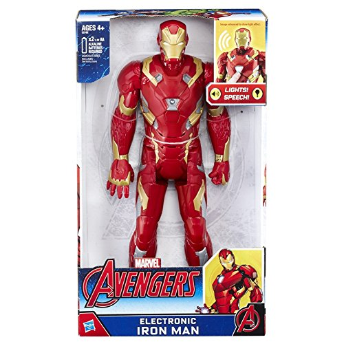 Avengers – Electronic Iron Man Figure, Multilingual version (Hasbro c2162eu4)