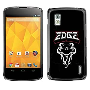 LECELL -- Funda protectora / Cubierta / Piel For LG Google Nexus 4 E960 -- Edge VS Snake --
