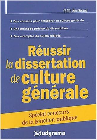 71fb0a5581e Réussir la dissertation de culture générale   Spécial concours de la  fonction publique